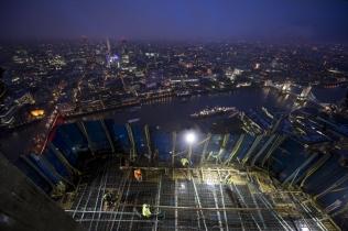 Shard working deck at dusk
